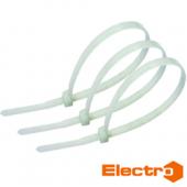 Хомут кабельный Xc пластиковый цвет - белый ТМ ElectrO
