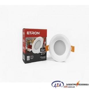 Светильник светодиодный ETRON Dekor Power 1-EDP-622 6W 4200 K IP20 круг