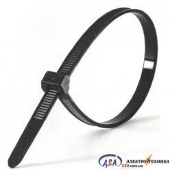 Хомут кабельный Хс пластиковый цвет - черный размер 5mm x 400mm (упаковка 50 шт.)