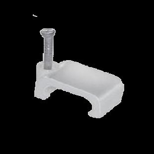 Скоба 09мм плоская пластиковая IEK