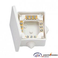 Разпределительная коробка с клемали КМ-222 102*102*43,5мм ІР 44