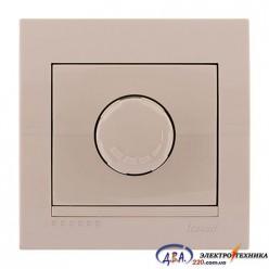 Диммер 500 Вт с фильтром  крем, скрытой  установки  DERIY  702-0303-116