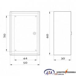 Корпус электротехнический КЭП 60.50.30-1.0.1.0 IP 31 в комплекте с монтажной панелью 2мм