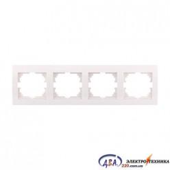Рамка 4-ая горизонтальная б/вст,  белая  DERIY  702-0202-149