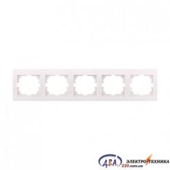 Рамка 5-ая горизонтальная б/вст,  белая  DERIY  702-0202-150