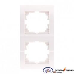 Рамка 2-ая вертикальная б/вст ,  белая  DERIY  702-0202-152