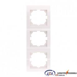 Рамка 3-ая вертикальная б/вст ,  белая  DERIY  702-0202-153