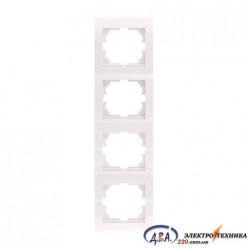 Рамка 4-ая вертикальная б/вст ,  белая  DERIY  702-0202-154