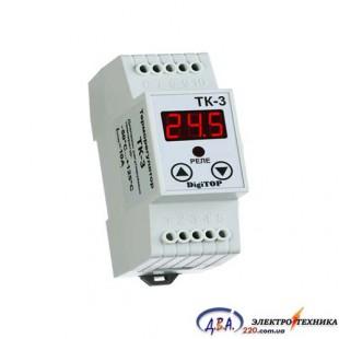 Терморегулятор одноканальный ТК-3 Энергохит DIN