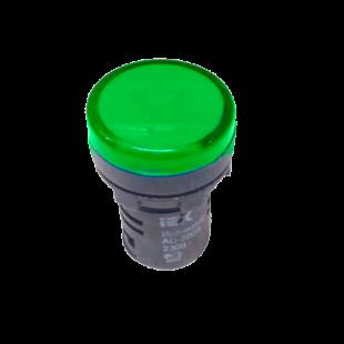 Лампа AD16DS LED-матрица d16мм зеленый 110В AC/DC IEK