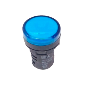 Лампа AD16DS LED-матрица d16мм синий 230В AC IEK