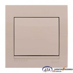 Выключатель 1-кл. крем скрытой  установки  DERIY  702-0303-100