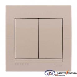 Выключатель 2-кл. крем скрытой  установки  DERIY  702-0303-101