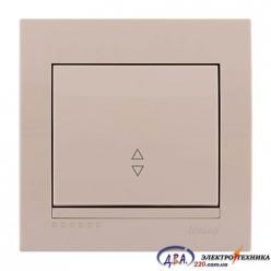 Выключатель проходной 1кл. крем, скрытой  установки  DERIY  702-0303-105