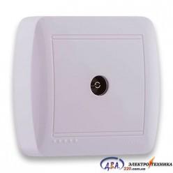 Розетка ТВ проходная белая 711-0200-129 DEMET