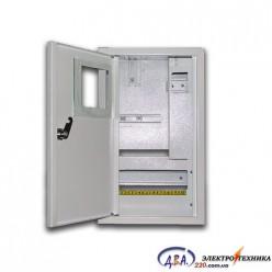 Ящик  металлический распределительный наружный ШМР - 1Ф-10А-Н-УЗО ЛОЗА