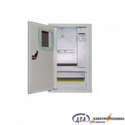 Ящик  металлический распределительный внутреней ШМР - 1Ф-10А-В-УЗО ЛОЗА