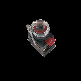 Переключатель АKS-22 черный с ключом на 2 фиксир.положения I-O 1з+1р IEK
