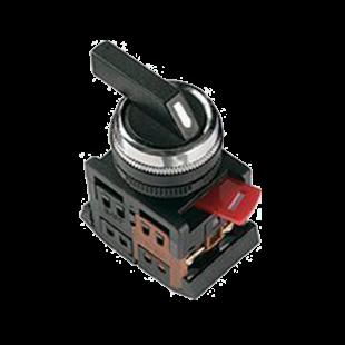 Переключатель АLСLR-22 черный на 3 фиксир.положения I-O-II 1з+1р IEK