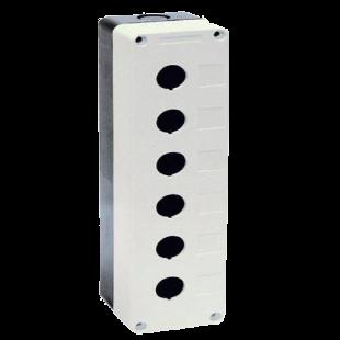 Корпус КП106 для кнопок 6мест белый IEK