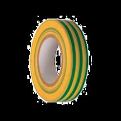 Изолента 0,13х15 мм желто-зеленая 20 метров IEK