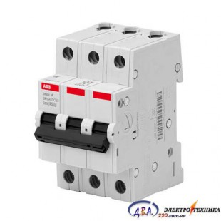 Автоматический выключатель 3р 16А С 4,5Ка АВВ  Basic M