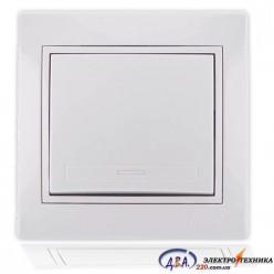 Выключатель белый с белой вставкой 701-0202-100 MIRA