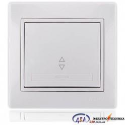 Выключатель проходной белый с белой вставкой 701-0202-105 MIRA