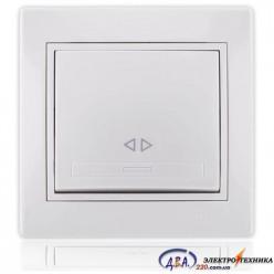 Выключатель промежуточный белый с белой вставкой 701-0202-107 MIRA