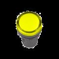 Лампа AD-22DS LED-матрица d22мм жолтая 12В AC/DC IEK