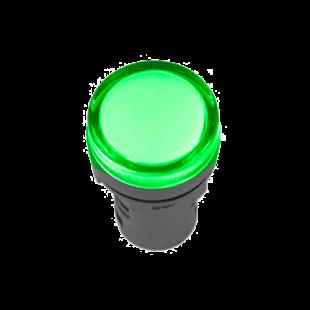 Лампа AD-22DS LED-матрица d22мм зеленая 12В AC/DC IEK