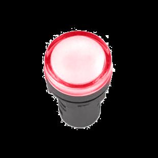 Лампа AD-22DS LED-матрица d22мм красная 12В AC/DC IEK