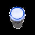 Лампа AD-22DS LED-матрица d22мм синий 24В AC/DC IEK