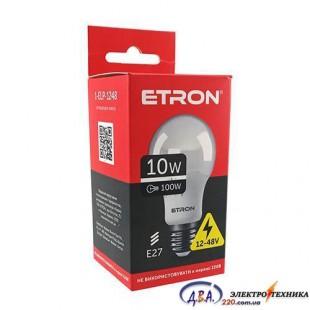 Лампа светодиодная ETRON  Light Power A60 10W 12-48V 4200K E27 1-ELP-1248