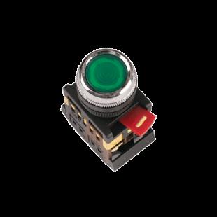 Кнопка ABLFS-22 зеленая d22мм неон/240В 1з+1р IEK