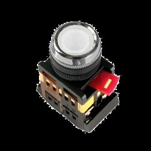 Кнопка ABLFS-22 прозрачная d22мм неон/240В 1з+1р IEK