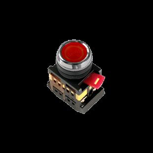 Кнопка ABLFS-22 красная d22мм неон/240В 1з+1р IEK