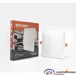 Светильник светодиодный Etron1-EDP-664 24W 5000K квадрат