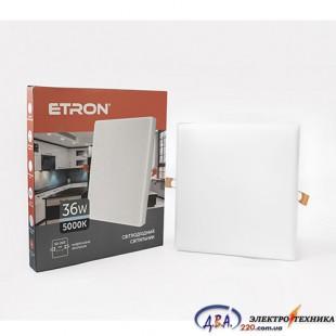 Светильник светодиодный Etron1-EDP-668 36W 5000K квадрат