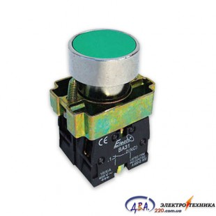 Кнопка ВА31 зеленая 22mm NO+NC