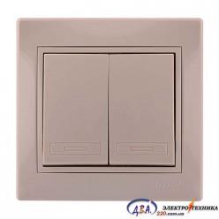 Выключатель 2 кл. MIRA 701-0303-101 крем