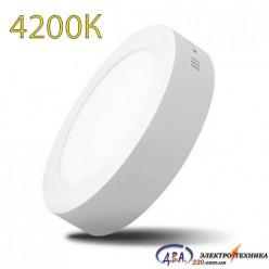 Светильник  LED-SR-300-24 24Вт 4200К круг накладной 300мм