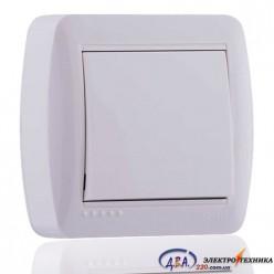 Выключатель белый 1кл. 711-0200-100 DEMET
