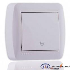 Кнопка звонка белая 711-0200-103 DEMET