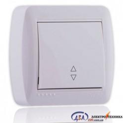 Выключатель проходной белый 1кл. 711-0200-105 DEMET