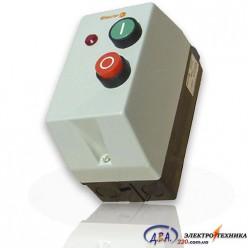 Пускатель 12А и реле в защитном корпусе Ue=220В/АС3 IP54 с индикатором