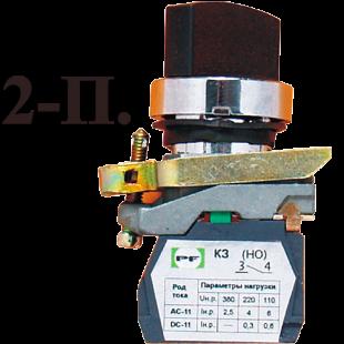 Переключатель ВК-011 ПР 2-х 1З 1НО 2х позицыоный (PF)