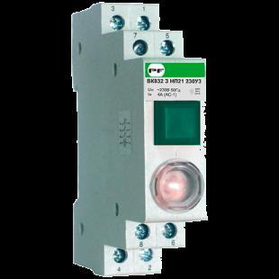 Мод. кнопка с сигнальной лампой ВК 832 З  1НО/2НЗ Зелёная (PF)