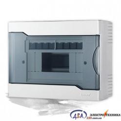 Бокс с прозрачной крышкой ЩРН-П-8 для наружной установки 8-и модульных устройств 730-2000-008