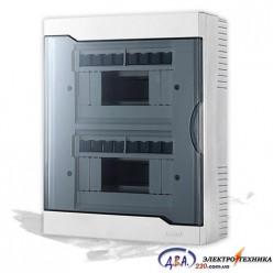Бокс с прозрачной крышкой ЩРН-П-16 для наружной установки 16-и модульных устройств 730-2000-016